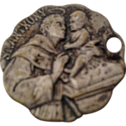 St Anthony Silver Tone Catholic Medal