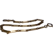 Vintage Gold Filled  Watch Chain