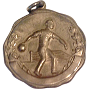 1930 - 31 Sterling Silver Bowling Medal