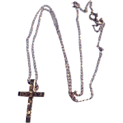 Vintage 14 K G F Cross & Chain