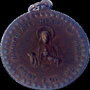 Vintage Copper Tone Miraculous Medal