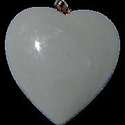 Vintage Bone Puffy Heart Pendant