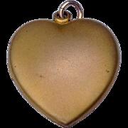 Vintage Gold Tone Metal Double Photo Heart Locket