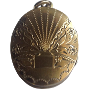 Vintage Gold Filled Oval Double Photo Locket