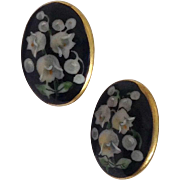 REDUCED Hand Painted Lily Of The Valley Porcelain Earrings