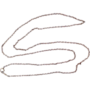 "Art Deco 10 K Gold Esemco 20"" Chain"