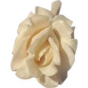 REDUCED Vintage Hand Carved Bone Gardenia