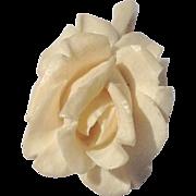 REDUCED Vintage Hand Carved Bone Gardenia