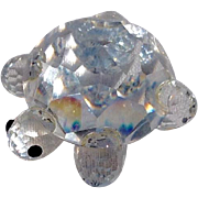 Retired Vintage Swarovski Crystal Turtle