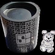 Retired Swarovski Crystal Small Bear