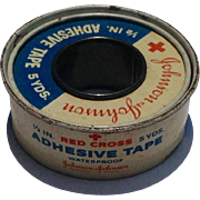 "Vintage Johnson & Johnson Roll Of 1/2"" Adhesive Tape"