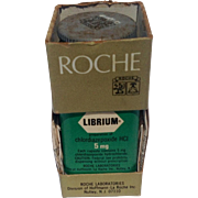Vintage Roche Librium 1960'S Plastic Bottle In Original Box