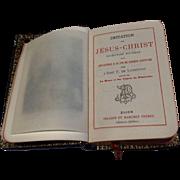 Antique Leather French Imitation Of Jesus Christ Prayer Book