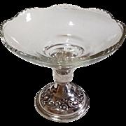 Vintage Reed & Barton Sterling Silver Floral Base Compote/Candlestick
