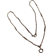 REDUCED Art Deco 14 K Yellow Gold Fancy Link Chain