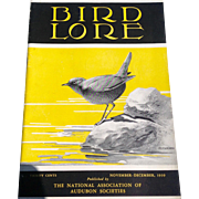 Vintage November - December 1939 Bird - Lore Published By The National Association Of Audubon