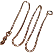 Vintage 14 K Gold Filled Watch Chain
