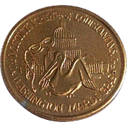 1984 The Krewe Of Louisianas Washington Mardi Gras Doubloon