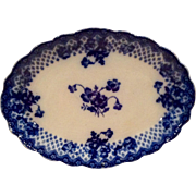 REDUCED Ford & Sons Floral Flo Blue Oval Scalloped Platter