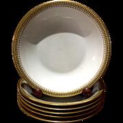 Vintage Set Of Six Theodore Haviland Limoges France Soup,Bowls