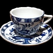Vintage Vienna Woods Blue & White Demi Tasse Cup & Saucer