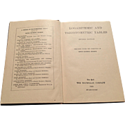1928 Logarithmic And Trigonometric Tables By Earle Raymond Hedrick