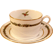 Christmas Classic Cup & Saucer By Department 56