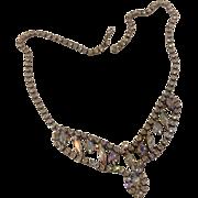 Aurora Borelias Faceted  Rhinestone Necklace