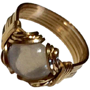 Vintage Gold Filled Moonstone Ring