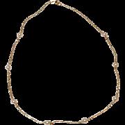 Vintage Estate 14 K Gold Cultured Pearl Necklace