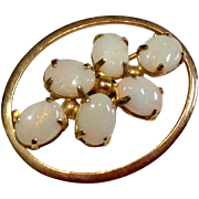 Vintage Gold Filled Onyx Brooch