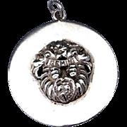 1940'S Large Vintage Cini Sterling Silver Gemini Zodiac Three Dimensional Charm Pendant