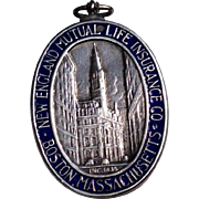 Vintage 1935 Tiffany Sterling Silver & Enamel New England Mutual Life Insurance Company Servic