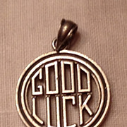 Vintage Sterling Silver Good Luck  Charm
