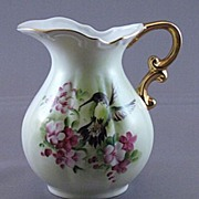 Vintage Decorative Hand Painted Pitcher