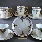 Beautiful 'Favorite' Bavaria Hand Painted Cup and Saucer Sets