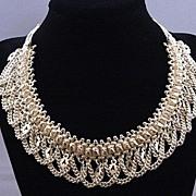 Vintage Ornate Sterling Silver Necklace