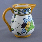 SALE Vintage Pottery Pitcher, Made In Spain