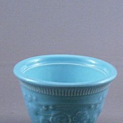T S & T Blue Pottery Small Custard Cup or Bowl
