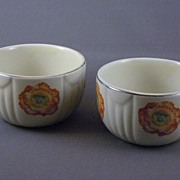 SALE Vintage Hall China Orange Poppy Custard Cup Set