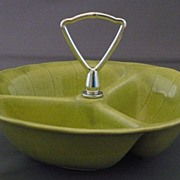 SALE Vintage 1960's Lane & Co. Green 3000 Candy or Nut Dish