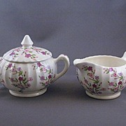 Vintage W.S. George Sugar and Creamer Bolero Pattern