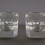 Vintage Clear Lead Crystal Ashtrays