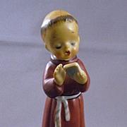 Vintage Ceramic Monk Figurine Made In Japan