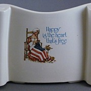 SALE Vintage Holly Hobbie Freedom Series Betsy Ross Pottery Planter
