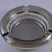Vintage Smoked Glass Round Ashtray