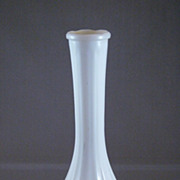 Vintage White Milk Glass Bud Vase