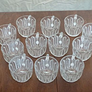Pressed Glass Crystal Punch Cups