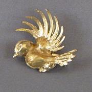 Vintage Bird In Flight Pin