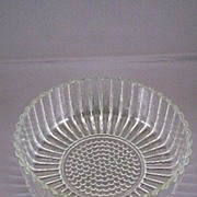 Vintage Patterned Glass Bowl With Sunflower Design